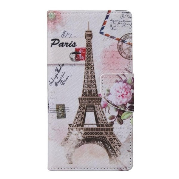 SUNSKY Eiffel Tower Pattern Horizontal Flip Leather Case with Holder Card Slots Wallet for Alcatel Idol 3 4.7inch (Multicolor) (Intl)
