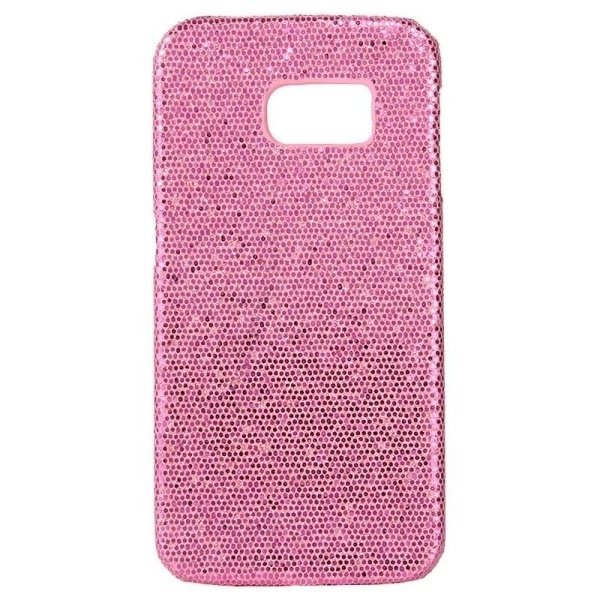 SUNSKY Flash Powder Skin Paste Plastic Protective Case for Samsung Galaxy Note 5 / N920 (Dark Pink) (Intl)