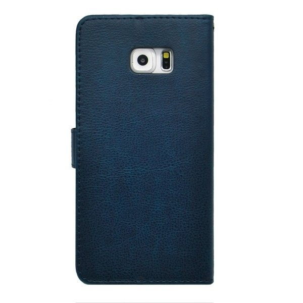 SUNSKY Flip PU Leather PC Cover for Samsung Galaxy S6 Edge+ G928 (Dark Blue) (Intl)