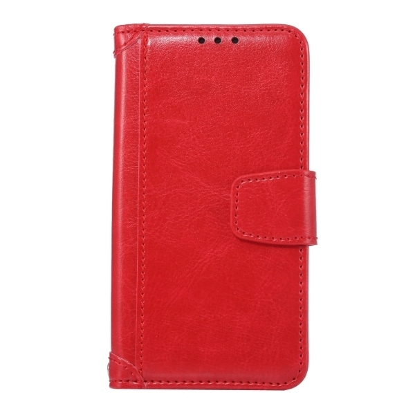 SUNSKY Flip PU Leather PC Cover with Wallet Card Slots Holder for Sony Xperia Z5 Compact / Z5 Mini (Red) (Intl)