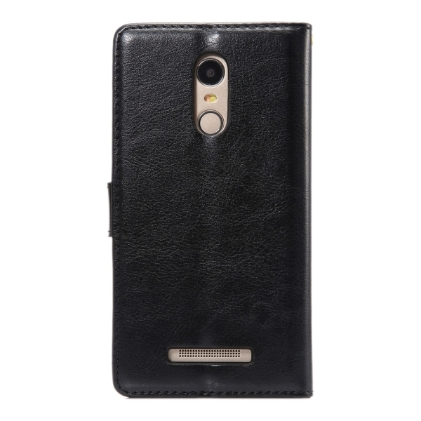 SUNSKY Flip PU Leather PC Cover with Wallet Card Slots Holder for Xiaomi Redmi Note 3 (Black) (Intl)