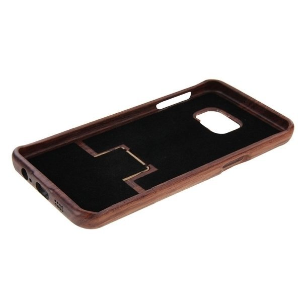 SUNSKY Grass Pattern Separable Rosewood Wooden Back Case for Samsung Galaxy S6 edge+ / G928 (Brown) (Intl)