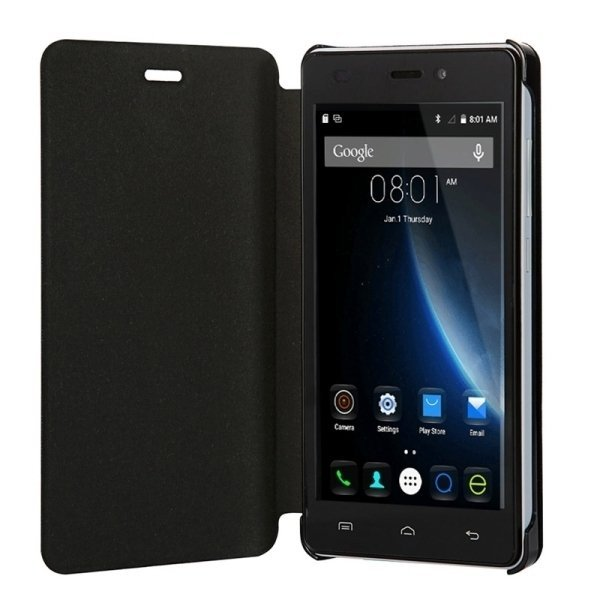 SUNSKY Horizontal Flip Leather Cover for Doogee X5 / X5 Pro (S-MPH-1005 S-MPH-1080)(Black) (Intl)