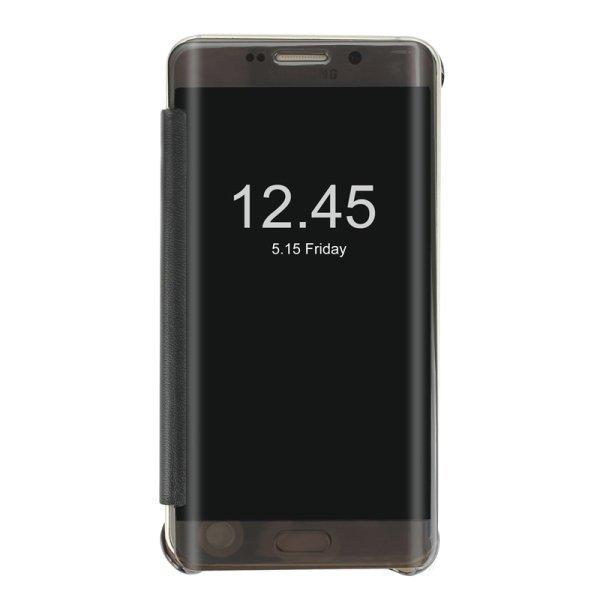 SUNSKY Horizontal Flip PU PC Combination with Sleep Wake-up Function Cover for Samsung Galaxy S6 edge (Black) (Intl)