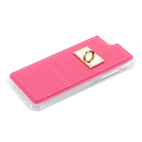 SUNSKY PU Paste Skin TPU Protective Back Case with Fox Pendant for iPhone 6/6s (Magenta) (Intl)