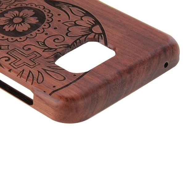 SUNSKY Skull Pattern Separable Rosewood Wooden Back Case for Samsung Galaxy Note 5 / N920 (Brown) (Intl)