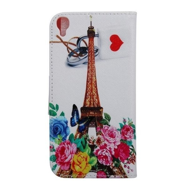 SUNSKY Tower and Flowers Pattern Horizontal Flip Leather Cover for Alcatel Idol 3 5.5inch (Multicolor) (Intl)