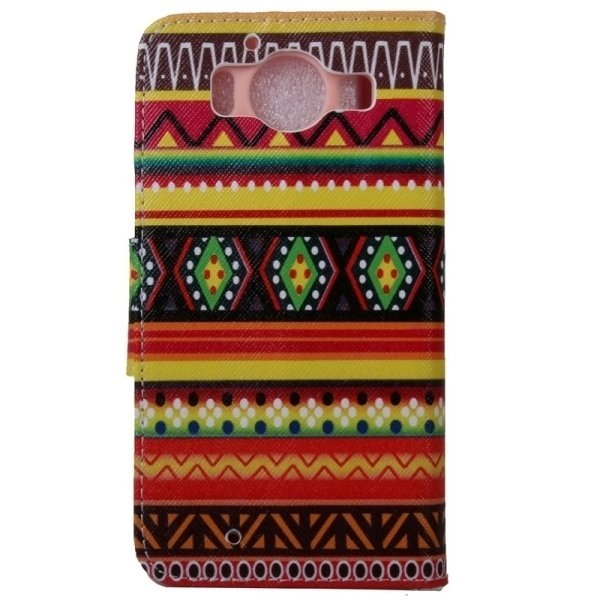 SUNSKY Tribal Stripes Pattern Horizontal Flip Leather Case with Holder Card Slots Wallet for Microsoft Lumia 950 (Multicolor) (Intl)