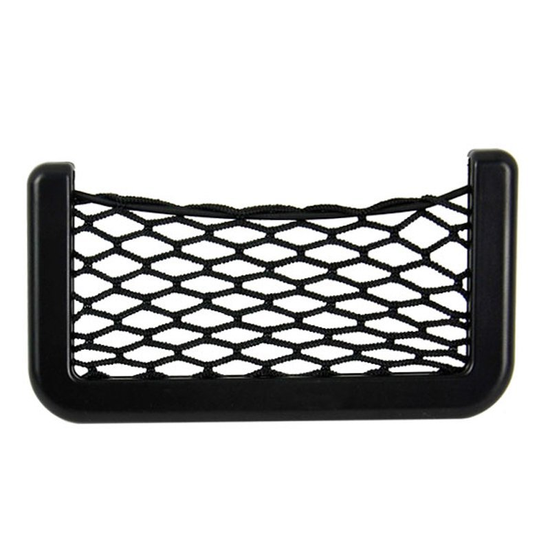 Sunweb 15X8cm Net Bag Automotive With Adhesive Visor Car Organizer Pockets Net (Black)