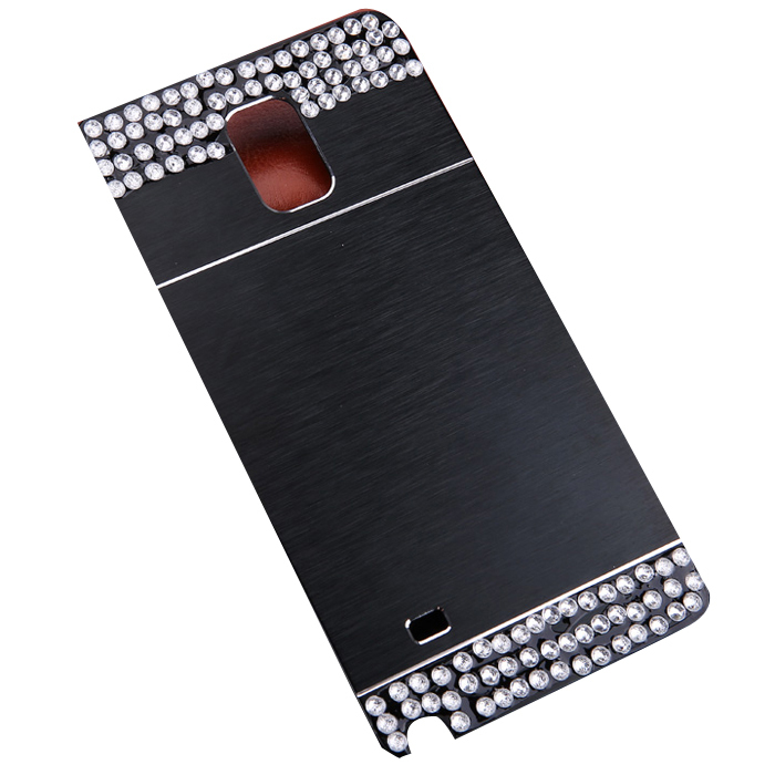 Sunweb Diamond Phone Metal Case for Samsung Galaxy S4 S5 Note (Black)