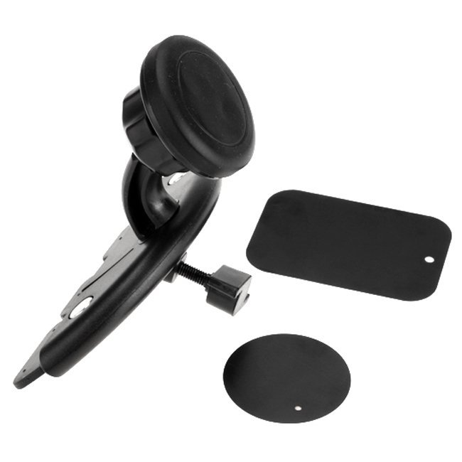 Sunweb Fashion Universal Car CD Slot Stand Magnetic Mat Suction Mount Holder for Cell Phones (Black)