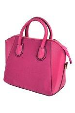 Sunweb Handbag Women's Synthetic Leather Top-Handle Bags Cross-body Shoulder Bag (Rose Red)