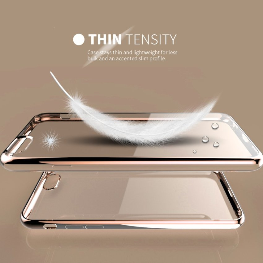 Super Thin Shockproof Sillicone TPU Metal Soft Case for Apple iPhone 6 6S Gold (Intl)