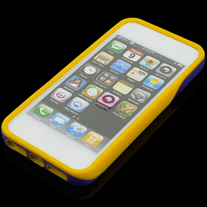 SuperCart Protector Clip Case for iPhone 5 5s (Yellow Purple) (Intl)