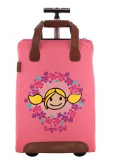 Surfer Girl Bags 2WH SB Chic Traveller Cabin Trolley - Pink