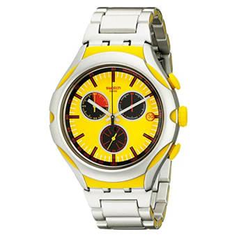 Swatch Men's YYS4002AG Irony Analog Display Swiss Quartz Silver Watch - Intl