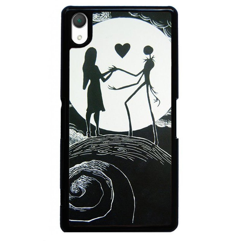 Sweet Lover On Moon Painting Phone Case for SONY Xperia Z2 (Black)