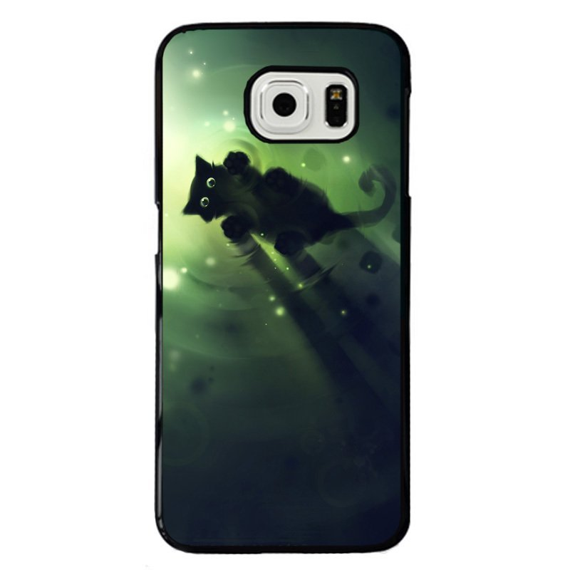 Swimming Cat Printed Phone Case for Samsung Galaxy S5 E5000 (Multicolor)