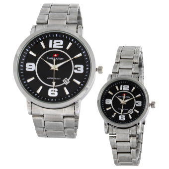 Swiss Army Couple Watch - Silver - Stainless - Swiss Army SA 5091 CPL