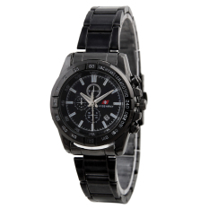 Swiss Army Elegant Couple Jam Tangan Couple - Stainless - Hitam -Swiss Army