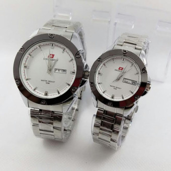 Swiss Army - Jam Tangan Couple - Stainless Steel - SA2992 Silver