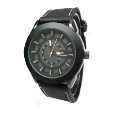 Swiss Army Men's - Jam Tangan Pria - SA 1673 M Body Hitam - List Kuning