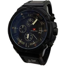 Swiss Army SA135-C Jam Tangan Pria Strap Leather Hitam L Putih