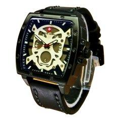 Swiss Army Skull Series- Jam Tangan Pria - Leather Strap - SA1046 WBl