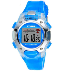 SYNOKE Fashion Children Waterproof Sport PU Digital Wristwatch (Green)