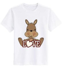 Sz Graphics T Shirt Wanita / Kaos Wanita Love Brown / T Shirt Fashion T Shirt Kaos Wanita Kaos Wanita - Putih