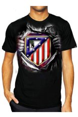 T-Shirt Glory Kaos 3D Atletico Madrid Super - Hitam