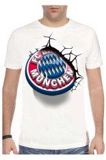 T-Shirt Glory Kaos 3D Bayern Munchen Bayern White - Putih