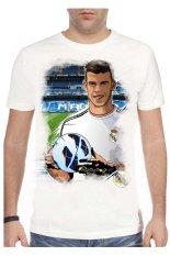 T-Shirt Glory Kaos 3D Gareth Bale White - Hitam
