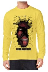 T-Shirt Glory Kaos 3D Left Eye Lengan Panjang Yellow - Kuning