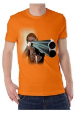 T-Shirt Glory Kaos 3D Shooting Orange - Orange