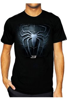 T-Shirt Glory Kaos 3D Spiderman 3 - Hitam