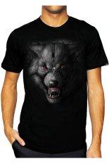 T-Shirt Glory Kaos 3D Srigala- Hitam