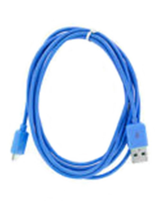Taff Normal Round Charging SYNC Data Micro USB Cable 1m - Biru