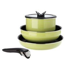 Tefal Magic Hands Premium Frying Pan Set Green  (Intl)