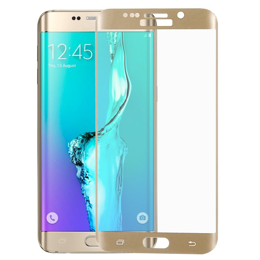 Tempered Glass Screen Protector for Samsung Galaxy S6 Edge Plus (Gold) (Intl)