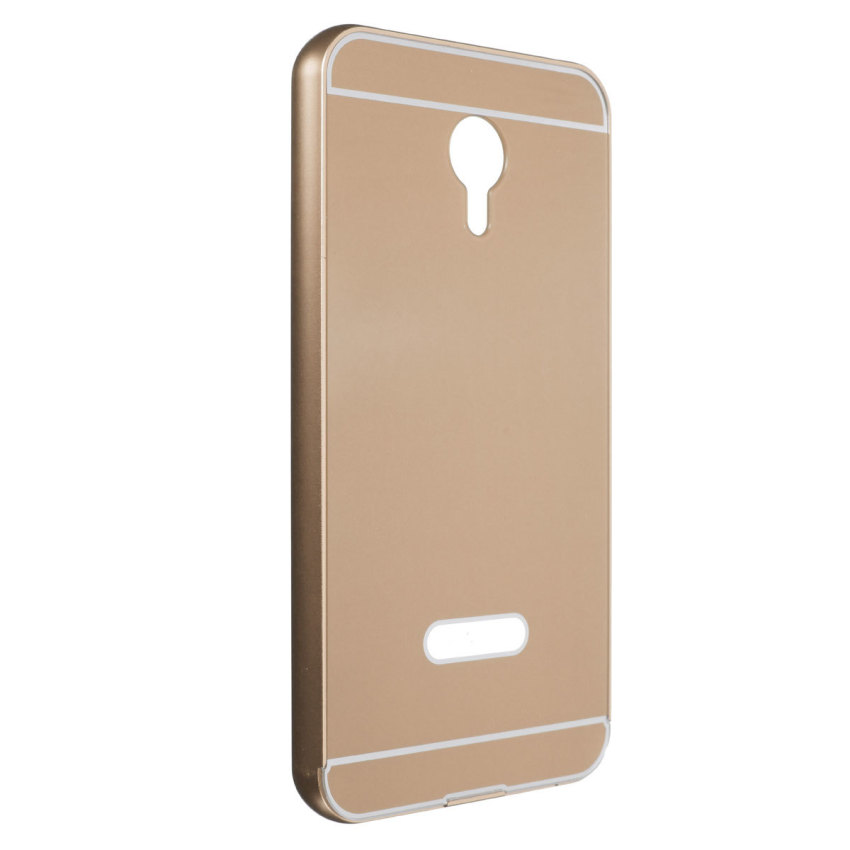 Thin Luxury Metal Frame Bumper + PC Hard Back Case for Meizu Meilan M1 Note (Golden) (Intl)
