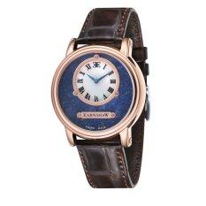 Thomas Earnshaw LAPIDARY ES-0027-07 Men's Brown Genuine Leather Strap Watch
