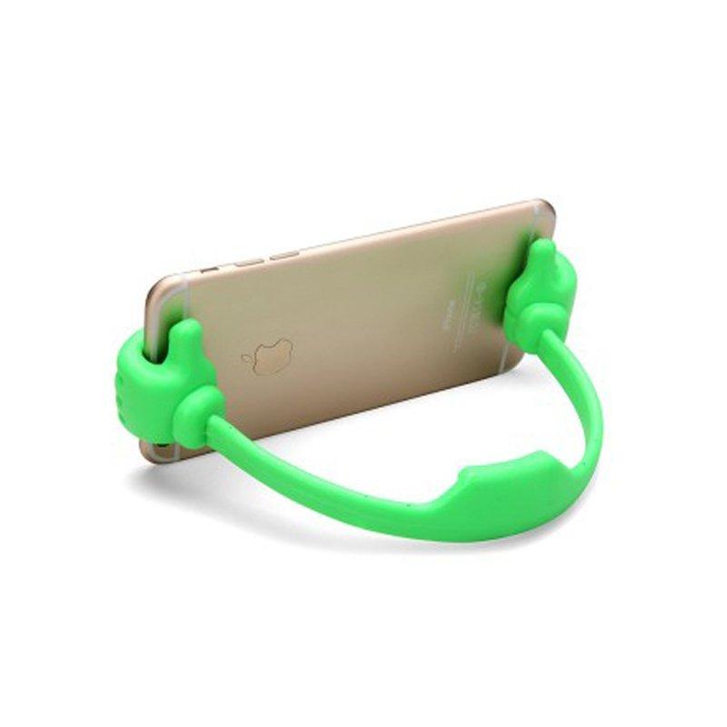 Thumb Phone Desktop Holder Stand Bracket for All Smartphone (Green) (Intl)