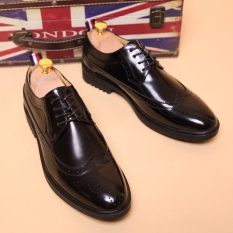Tidog Leather Shoes Business Stylist Pointed Shoes Casual Shoes Bullock Summer British Wind Tide Men Shoes
