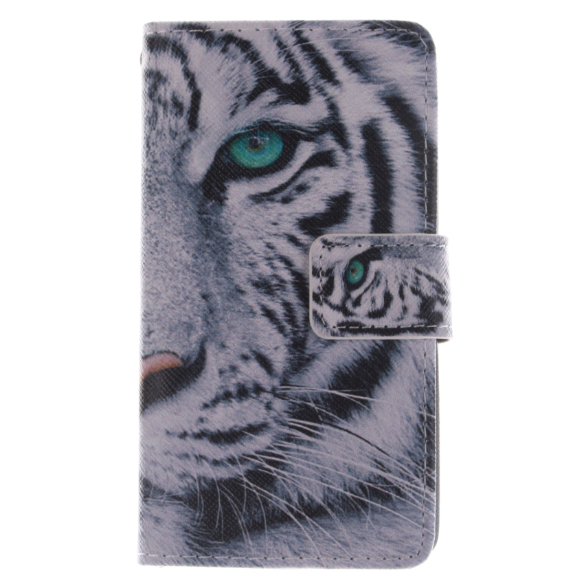 Tiger Double Painting Flip Leather Cover for Samsung Galaxy Ace Style LTE G357 (Multicolor) (Intl)