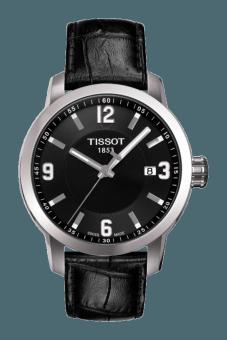 TISSOT PRC 200 Quartz Gent Jam Tangan Pria T0554101605700 - Leather - Black