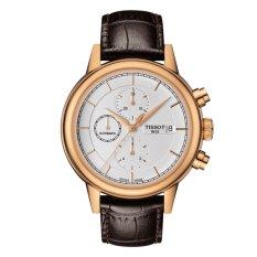 Tissot T-Classic Carson Automatic Chronograph Gent T085.427.36.011.00 - Jam Tangan Pria - Coklat