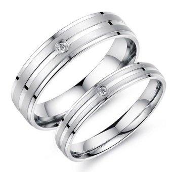 Titanium Cincin Couple Tunangan Kawin CR020