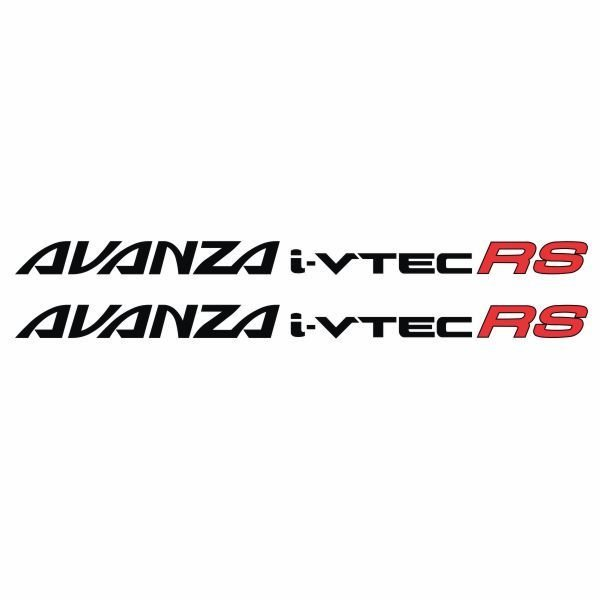 Tokomonster Sticker Avanza i-vtec RS Sticker RS Samping Mobil