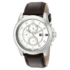Tommy Hilfiger Men's 1710294 Stainless Steel Watch With Brown Leather Band - Intl